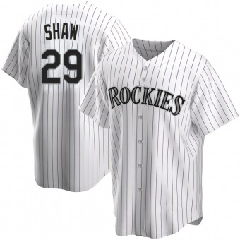 Youth Replica Colorado Rockies Bryan Shaw Home Jersey - White
