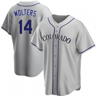Youth Replica Colorado Rockies Tony Wolters Road Jersey - Gray