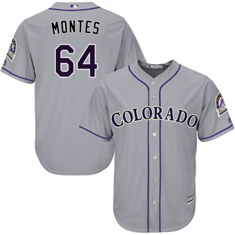 Authentic Colorado Rockies Coco Montes Majestic Cool Base Road Jersey - Gray